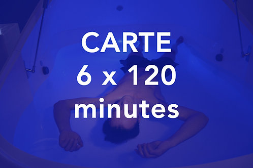 CARTE 6x120 minutes