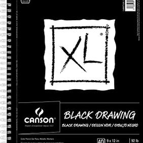 CANSON BLACK DRAWING BOOK