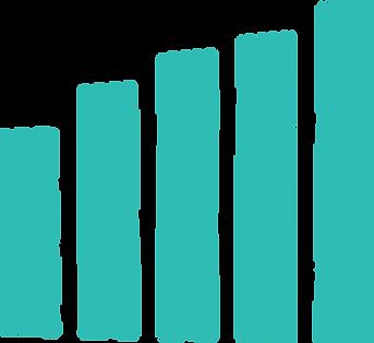 large blue bar graph