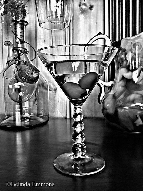 Martini Glass Print & Canvas