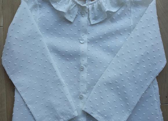 Blouse Castille en plumetis blanc