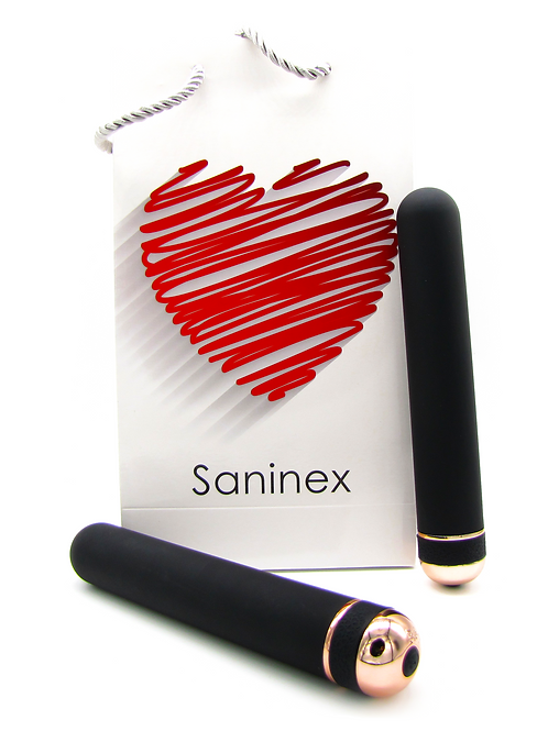 SANINEX VIBRATOR ORGASMIC ELEGANCE  XXL   Black and gold color.