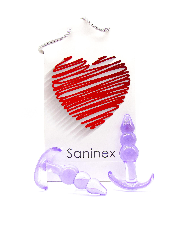SANINEX PLUG INITIATION 3D PLEASURE    - Economic line - Lilac colour 8984686 903904