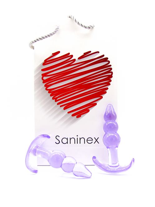 SANINEX PLUG INITIATION 3D PLEASURE.  Basic line. Pourple colour.