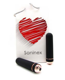SANINEX VIBRATOR ORGASMIC ELEGANCE   Black and gold color 8984686 903881