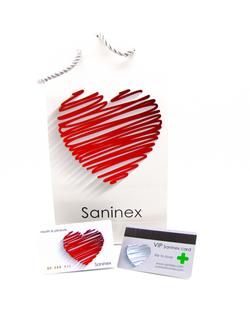 Saninex. Bolso y tarjeta vip-