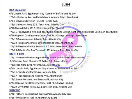 HOPE ONE  June's Outreach Schedule is now listed under events 🌻