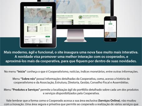 Cooperativa lança novo site
