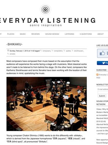 Everyday Listening