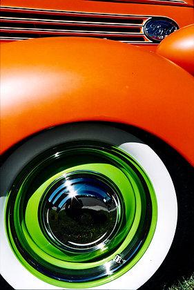 Matte Orange and Green