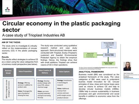 Towards a circular business model in the plastic packaging sector : a case study of Trioplast Indu