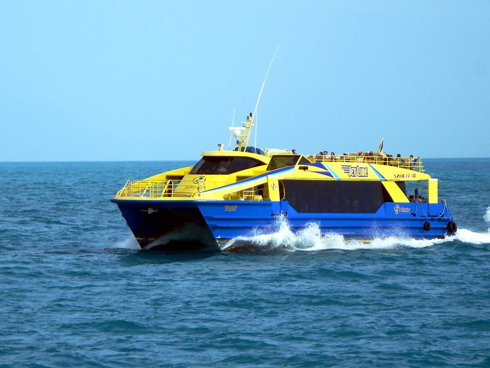 The Isla Mujeres Ultramar Ferry from Cancun to la isla