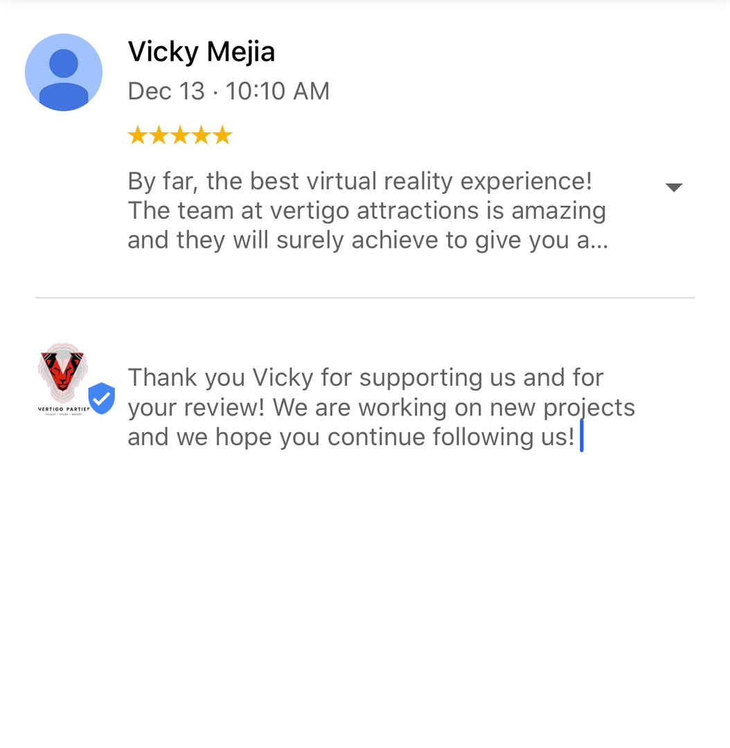 Google Review for Vertigo Entertainment and Parties.JPEG