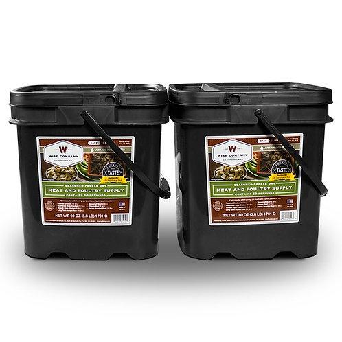 120 Servings Gourmet Meat Bucket