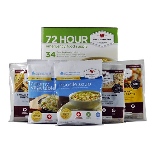 72 hour Emergency Food and Drink