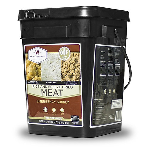 104 Servings Gluten-Free Meat Bucket