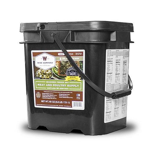 60 Servings Gourmet Meat Bucket