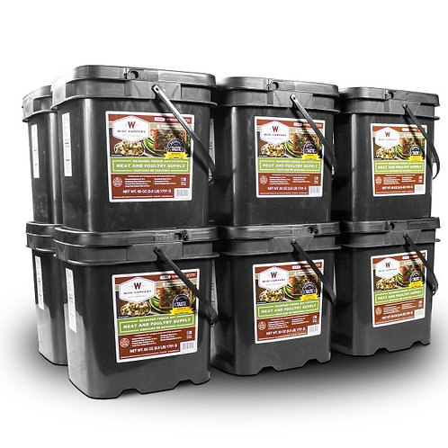 720 Servings Gourmet Meat Bucket