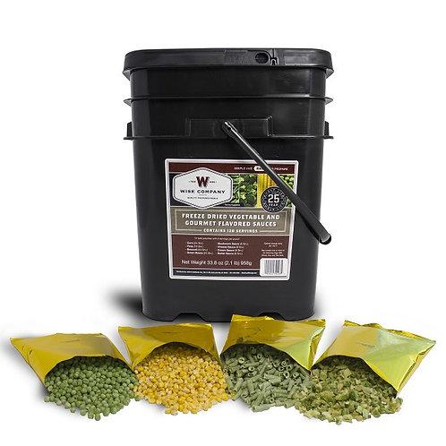 120 Serving Veggie Bucket