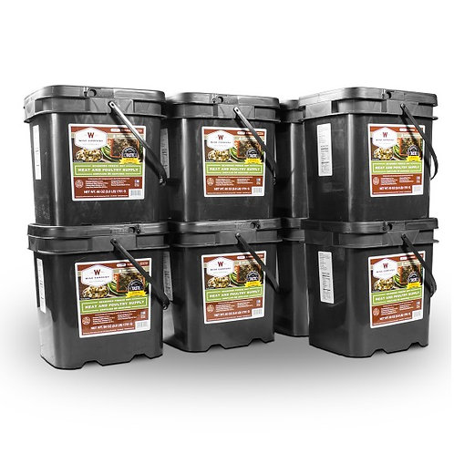 600 Servings Gourmet Meat Bucket