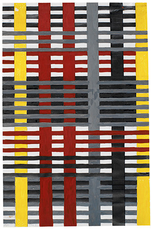 Design for wall hanging not executed 1926 Gouache on Paper Anni Albers.jpg