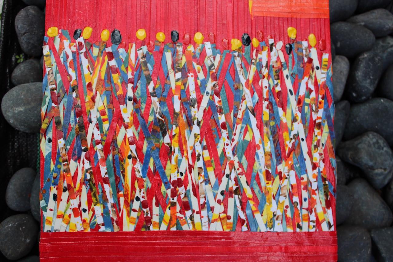 Carnival in Red - 100x30cm