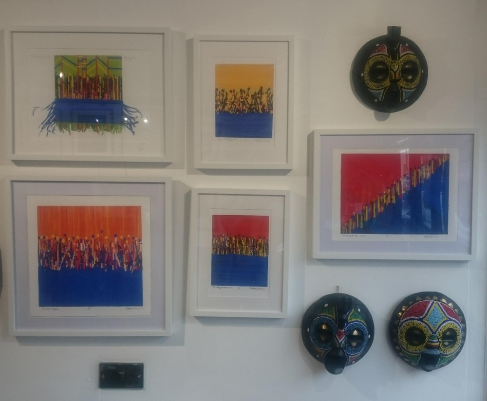 Colourful Abstract Art inspired by Notting Hill Carnival - Dee Lawrence