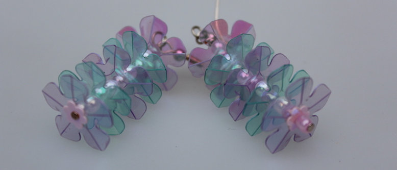 Confetti Petals - Drop Earrings - Pinks Blues buy at ArtAndPatterns.com