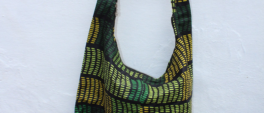 Shopper Bag - African Print Green Lines buy at ArtAndPatterns.com