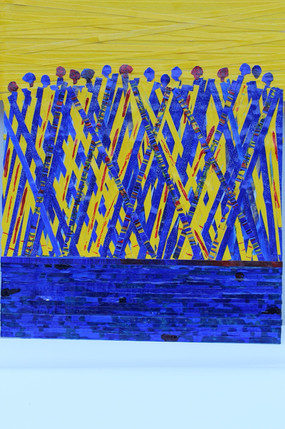 The Blues - Collage Strips - 30x28cm