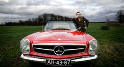 G. Gijbels/Mercedes 230 SL uit 1969