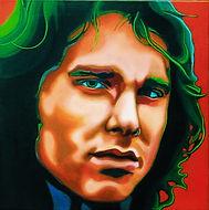 Jim Morrison, doors, Schilderij, portret, acrylverf op doek, Portrait, Painting, Acrylic on Canvas, art, kunst, kunstenaar, artist, doors, sixties, jaren zestig, flower power