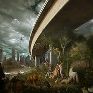 adam en eva, paradijs, adam and eva, paradise, vernietiging, destruction, photoshop,  illustratie, illustration