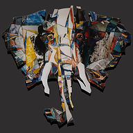 elephant, olifant, schilderij, kunst, Drie dimensionaal, Acryl op hout, Art, 3D, Three Dimensional, acrylic on wood, art, kunstenaar, artist, paper