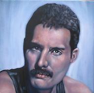Freddie Mercury, queen, Schilderij, portret, acrylverf op doek, Portrait, Painting, Acrylic on Canvas, art, kunst, kunstenaar, artist,