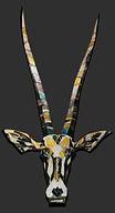 Oryx, spiesbok, schilderij, kunst, Drie dimensionaal, Acryl op hout, Art, 3D, Three Dimensional, acrylic on wood, art, kunstenaar, artist