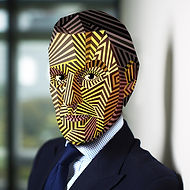 Businessman with Dazzle Mask. For Sale €750