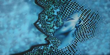 de kus, kiss, schilderij, acrylverf op doek, Painting, Acrylic on Canvas, art, kunst, kunstenaar, artist
