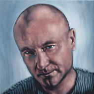 Phil Collins, Schilderij, portret, acrylverf op doek, Portrait, Painting, Acrylic on Canvas, art, kunst, kunstenaar, artist