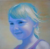 Schilderij, portret, acrylverf op doek, Portrait, Painting, Acrylic on Canvas, art, kunst, kunstenaar artist