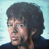 mick jagger, rolling stones, Schilderij, portret, acrylverf op doek, portrait, painting, Acrylic on Canvas, art, kunst, kunstenaar, artist
