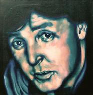 Paul McCartney, Schilderij, portret, acrylverf op doek, Portrait, Painting, Acrylic on Canvas, art, kunst, kunstenaar, artist