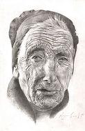 oude man, old man, tekening, drawing,  illustratie, illustration