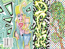 drink, wrapper, tekening, drawing,  illustratie, illustration