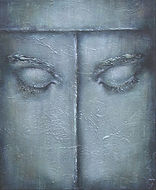 gesloten ogen, closed eye, Schilderij, acrylverf op doek, Painting, Acrylic on Canvas, art, kunst, kunstenaar, artist