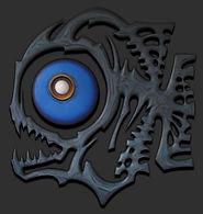 Piranha, Drie dimensionaal, Acryl op hout, Art, 3D, Three Dimensional, acrylic on wood
