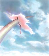 pink cloud, roze wolk, photoshop, regenboog, rainbow,  illustratie, illustration