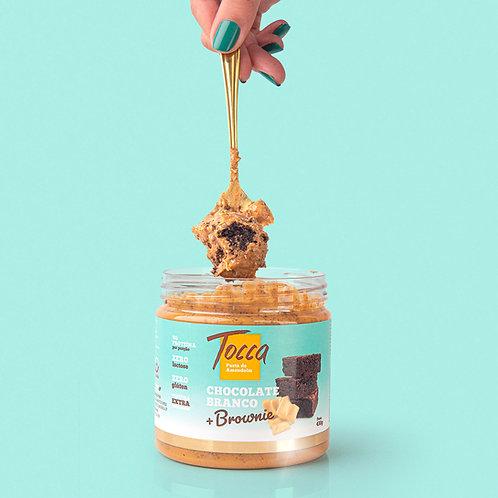 430g - Pasta de Amendoim | Chocolate branco zero com bownie proteico zero