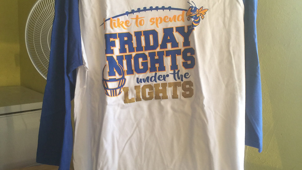 Friday Night Lights Baseball Tee
