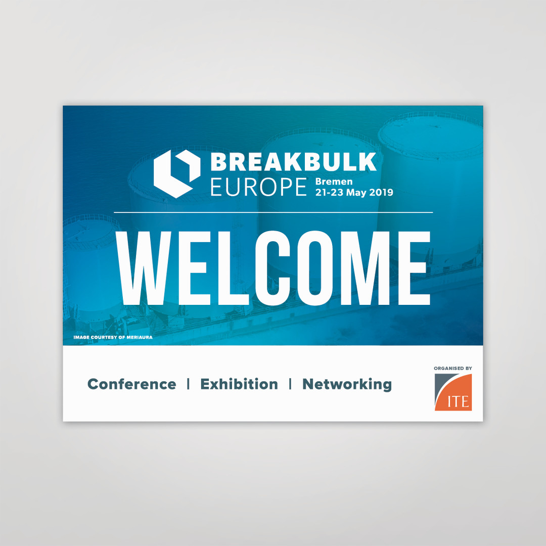 Breakbulk Europe Welcome Banner